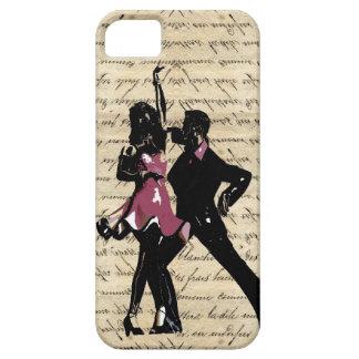 Ballroom dancers on vintage paper iPhone 5 case