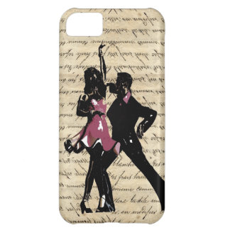 Ballroom dancers on vintage paper iPhone 5C cover