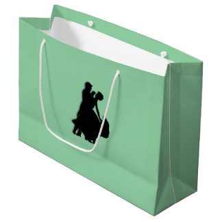 Ballroom Dancers Silhouette Large Gift Bag