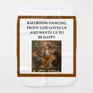 ballroom dancing burp cloth