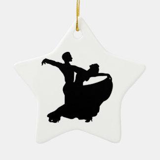 Ballroom Dancing Ceramic Star Ornament