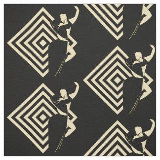 Ballroom Dancing Couple On Black Fabric