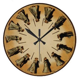 Ballroom Dancing Couple Waltzing 1898 Classic Large Clock