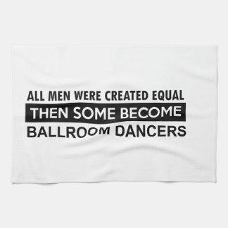 Ballroom dancing designs kitchen towel