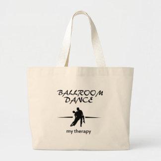 Ballroom dancing designs large tote bag