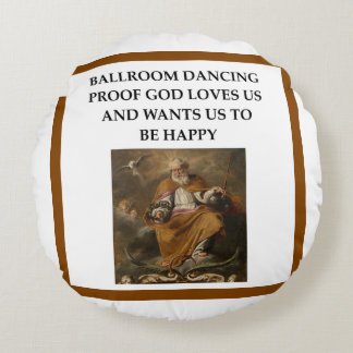 ballroom dancing round pillow