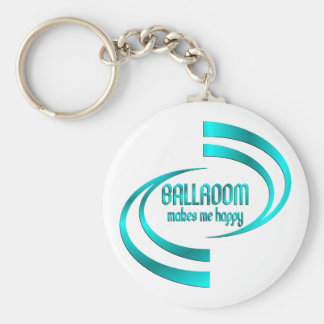 Ballroom Makes Me Happy Basic Round Button Keychain