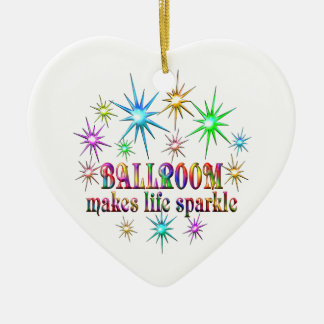 Ballroom Sparkles Ceramic Ornament
