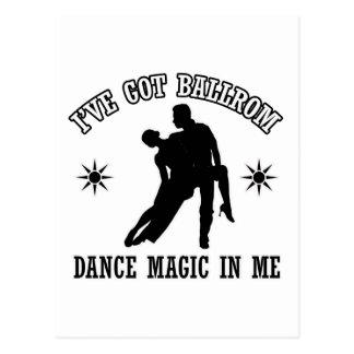 ballroomdance design postcard
