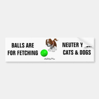 Balls Are For Fetching Bumper Sticker