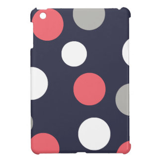 Balls Circles Pattern Grey White Coral Pink Case For The iPad Mini