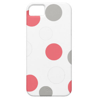 Balls Circles Pattern Grey White Coral Pink iPhone 5 Covers