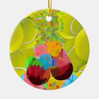 Balls glasses balloons. ceramic ornament