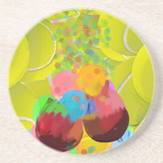 Balls glasses balloons. coasters