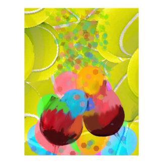 Balls glasses balloons. letterhead