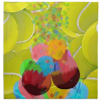 Balls glasses balloons. napkin