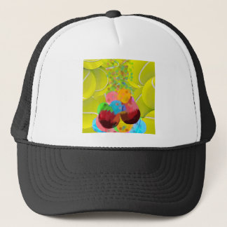 Balls glasses balloons. trucker hat