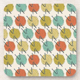 Balls of Wool Pattern Beverage Coasters
