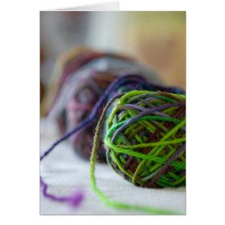 Balls of Yarn Card