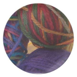 Balls of Yarn Party Plate