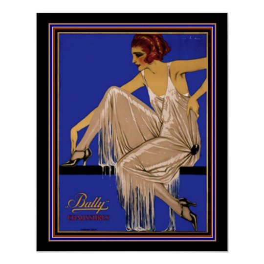 Bally Chaussures Deco Poster 16 x 20 ca. 1924