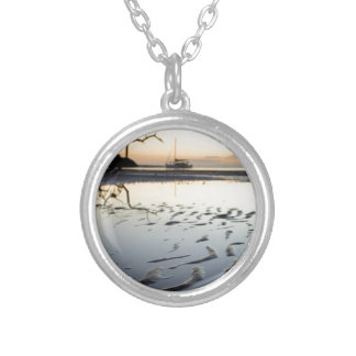Balmy Florida Evening Silver Plated Necklace