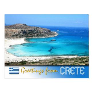 Balos Lagoon Beach, Crete, Greece Postcard