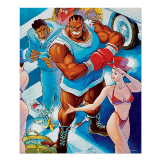 Balrog Before Street Fight Poster