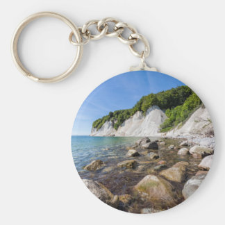 Baltic Sea coast on the island Ruegen Keychain