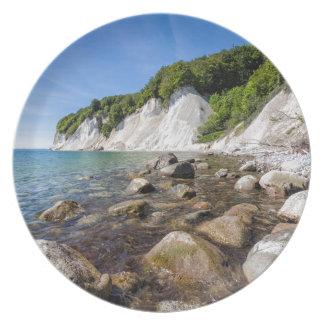 Baltic Sea coast on the island Ruegen Plate