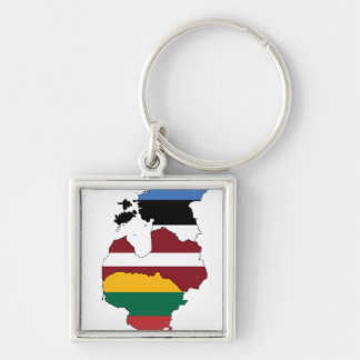 Baltic states keychain
