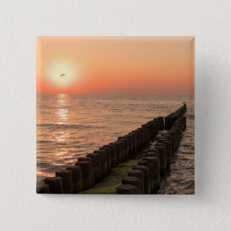 Baltic sunset 2 inch square button