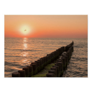 Baltic sunset poster