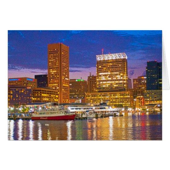 Baltimore at Night Card