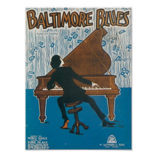 Baltimore Blues Vintage Songbook Cover Posters