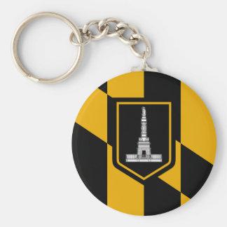 Baltimore Flag Keychain