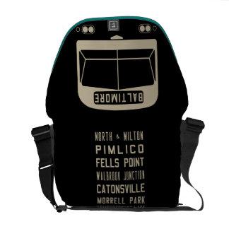 Baltimore Flxible Bus Scroll Messenger Bag