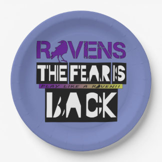 Baltimore Football Fear is Back!! 9 Inch Paper Plate