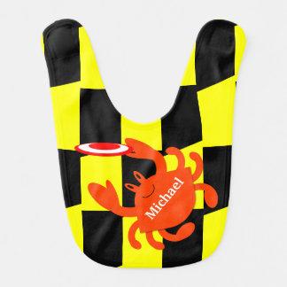 Baltimore Frisbee Crab Personalized Bib