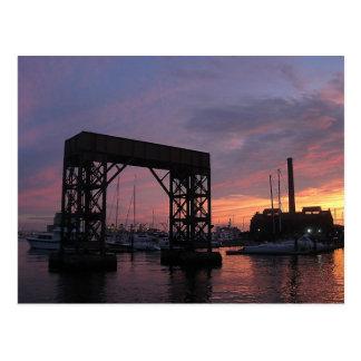 Baltimore Harbor Sunset Postcard