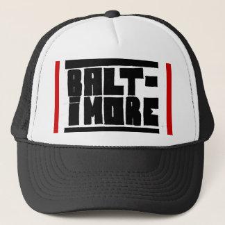 Baltimore Hat Black/White/Red