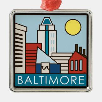 Baltimore Inner Harbor Metal Ornament