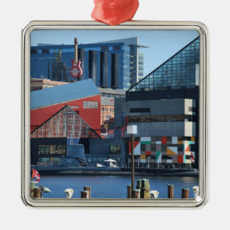 Baltimore Inner Harbor Metal Ornament