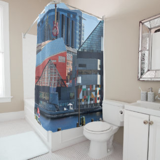 Baltimore Inner Harbor Shower Curtains