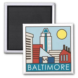 Baltimore Inner Harbor Square Magnet
