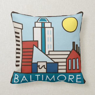 Baltimore Inner Harbor Throw Pillow