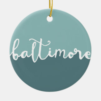 Baltimore, Maryland | Blue Circle Ombre Ceramic Ornament
