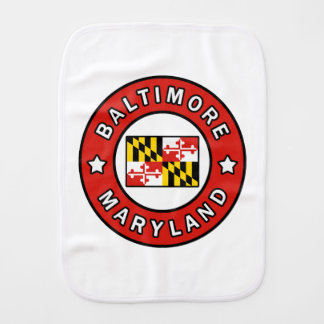 Baltimore Maryland Burp Cloth