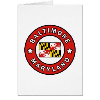 Baltimore Maryland Card