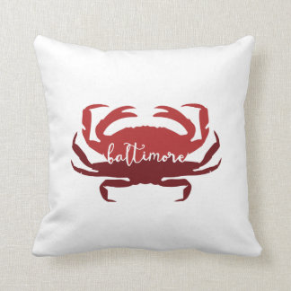 Baltimore, Maryland crab decor Throw Pillow